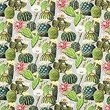 Fabulous Fabrics Halbpanama grau, Pflanze, 140cm breit