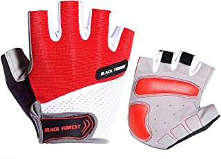 QNLYCZY Cycling Gloves Men's/Women's Mountain Bike Gloves Half Finger Biking Gloves | Anti-Slip Shock-Absorbing Gel Pad Breathable Cycle Gloves
