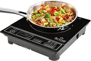 Duxtop 1800W Portable Induction Cooktop Countertop Burner, Silver