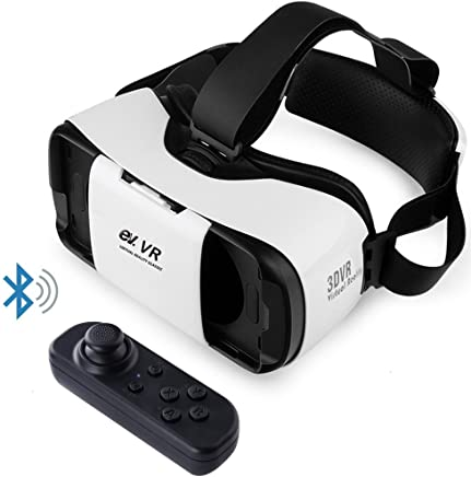 ev. Virtual Reality Headset VR Glasses with Remote Controller for 3D Movies and VR Games