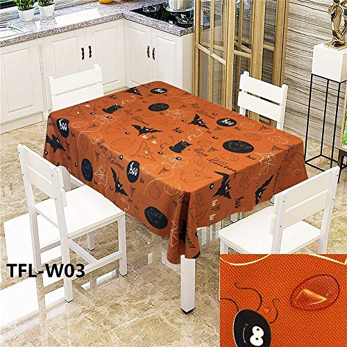 WSJIABIN Tablecloth Fashion Creative Digital Printing Cloth Oil Resistant and Waterproof Rectangular Tablecloth Multifunctional Tablecloth Festival Suitable for Indoor and Outdoor x 150 cm