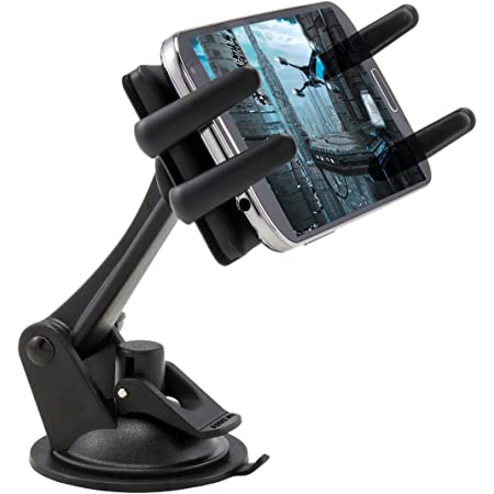 Arkon Windshield Dash Phone Car Mount for iPhone XS Max XS XR X 8 Galaxy Note 9 S10 S9 Retail Black