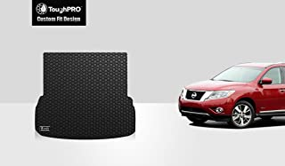 ToughPRO Cargo/Trunk Mat Compatible with Nissan Pathfinder - All Weather - Heavy Duty - (Made in USA) - Black Rubber - 2013, 2014, 2015, 2016, 2017, 2018, 2019, 2020