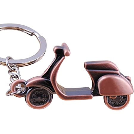 Sportigo Motorroller Schlüsselanhänger Roller In Der Farbe Bronze Retro Look Geschenk Sport Freizeit
