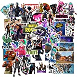 Fortnite Gaming Stickers (50 PCS) Quote Vinyl Decals Intensely Hued Pack for Laptop Water Bottle Bike Helmet Bbumper PS4,Xbos, Game Party Favor for Teens, Boys,Gamer Adults, Friends (fortnite 50)