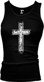 Distressed Cross - Religious Christian Christ Juniors Tank Top