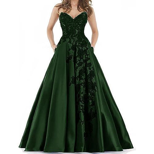 Plus Size Satin Ball Gown: Amazon.com