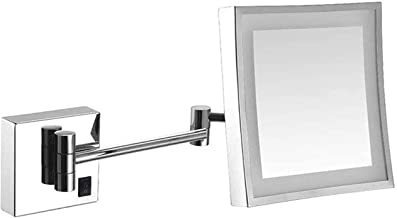 Makeup Mirror Makeup Mirror Lighted Vanity Bathroom Square Mirror with 360 Degree Swivel Rotation, Flexible Gooseneck, and...