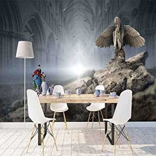 VITICP Adults Kids Wall Stickers Decals Peel and Stick Removable Wallpaper Cartoon Angel Statue for Nursery Bedroom Living...