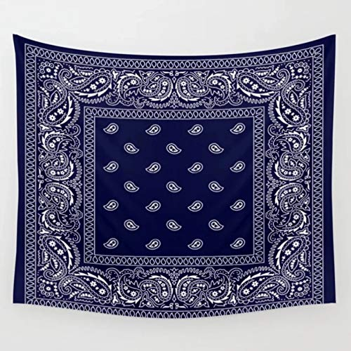 N/A Tapestry 3D Printing Bandana Navy Blue Southwestern Tapestry Wall Decor Tapestries Bedspread Wall Art Curtain Towel Sheet Table Cloth Yoga Mat Home Living Room Decoration Gifts