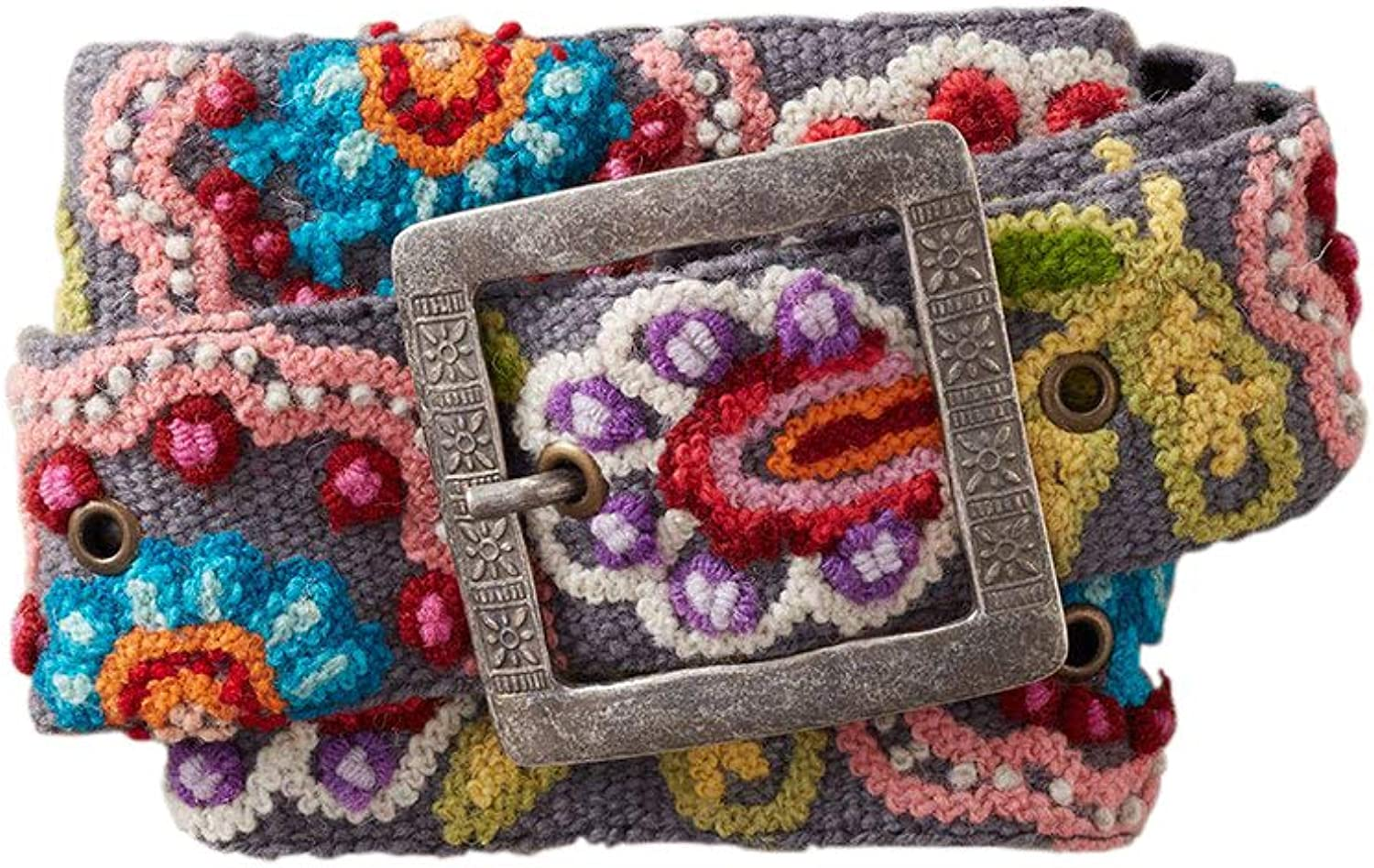 Tey Art All stores are sold Beatrix Hand Embroidered Belt Wool SALENEW very popular! Trade Fair