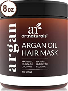 ArtNaturals Argan Hair Mask Conditioner - (8 Oz/226g) - Deep Conditioning Treatment - Organic Jojoba Oil, Aloe Vera & Kera...