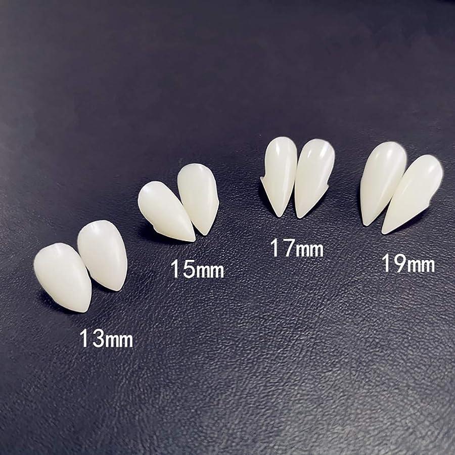 高度な四面体修士号6ペア牙キット歯の入れ歯歯の牙入れ歯小道具ハロウィーンの衣装小道具パーティーの好意休日DIYの装飾ホラー大人のための子供,17mm