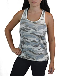 Women's Yoga Sport Bra Activewear with Removable Pads and Sports Tank Top Camo Camouflage Print Workout