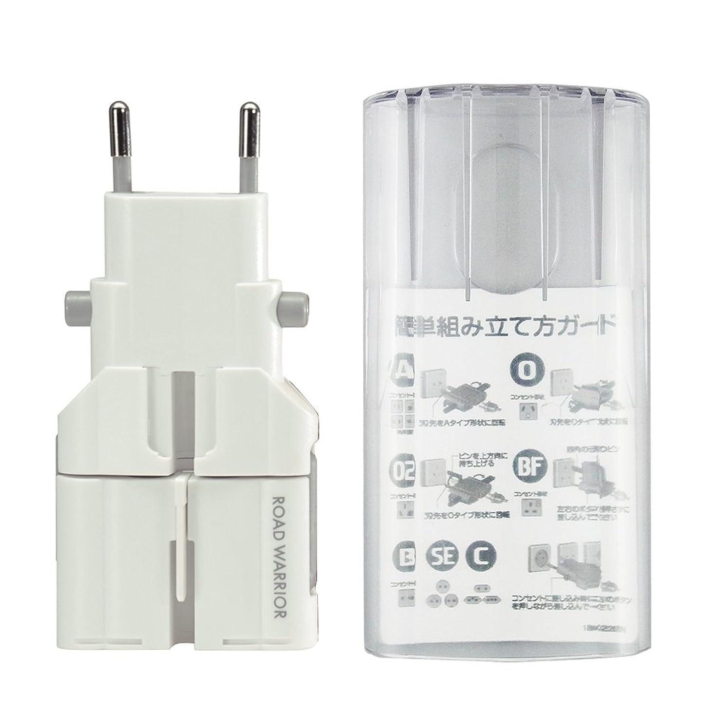 装備する八百屋さん販売員デバイスネット マルチ電源変換プラグ ゴーコン 専用ケース付 RW75WH/S ホワイト