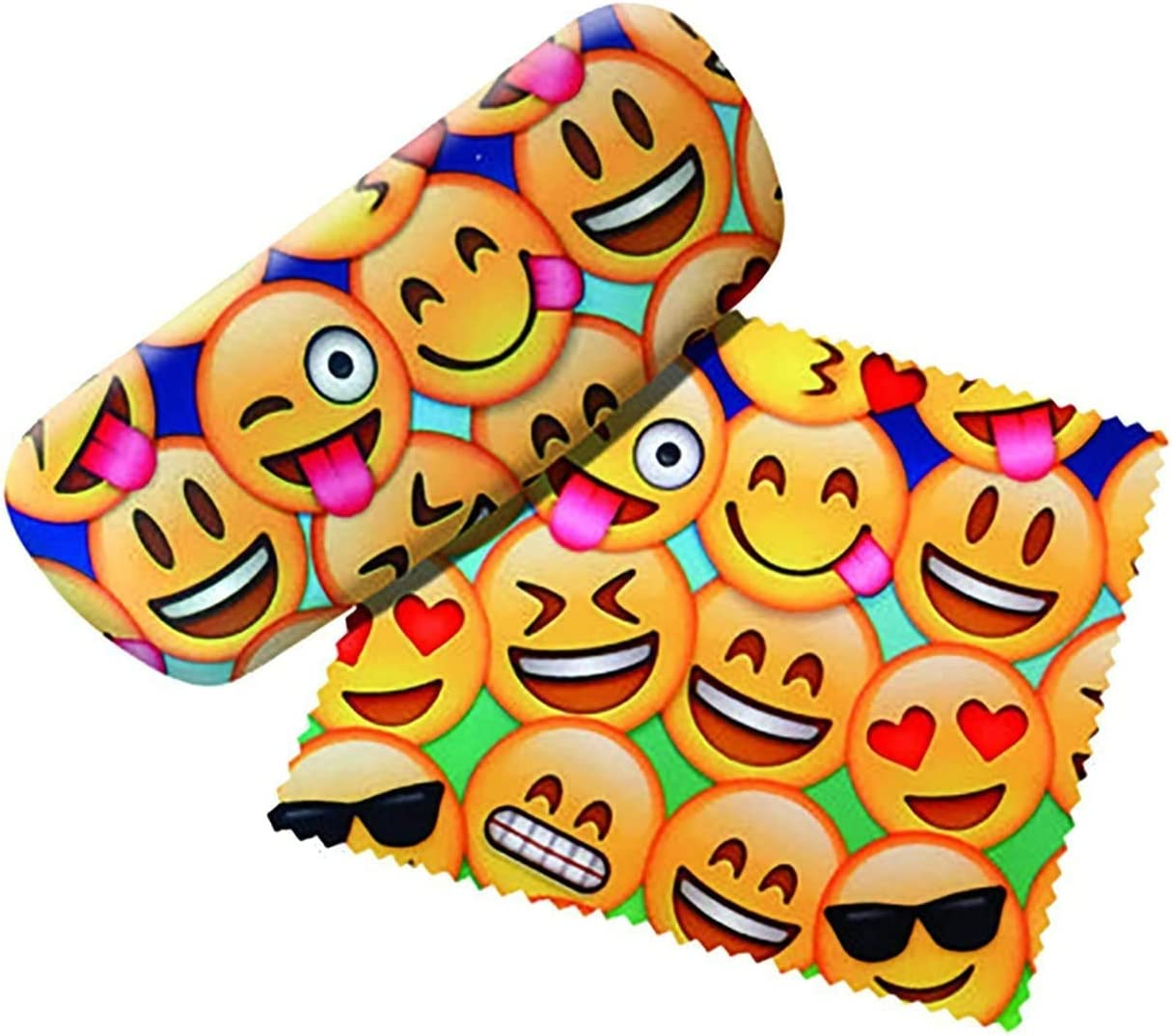 Spoontiques Emojis Eyeglass Hard Case with Matching Lens Cloth