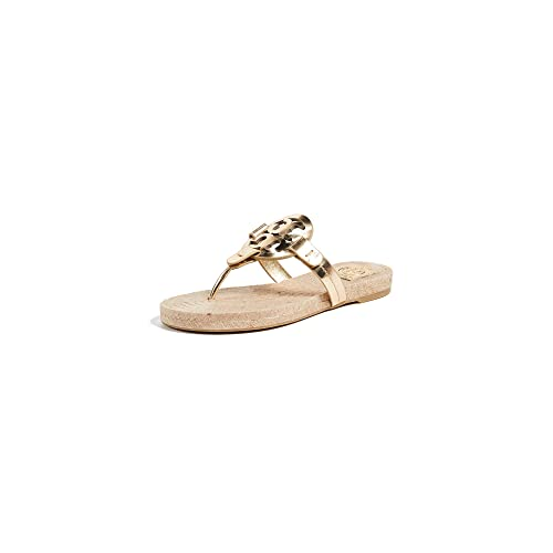 92a6ca70858edd Tory Burch Miller Thong Espadrille Sandals in Gold