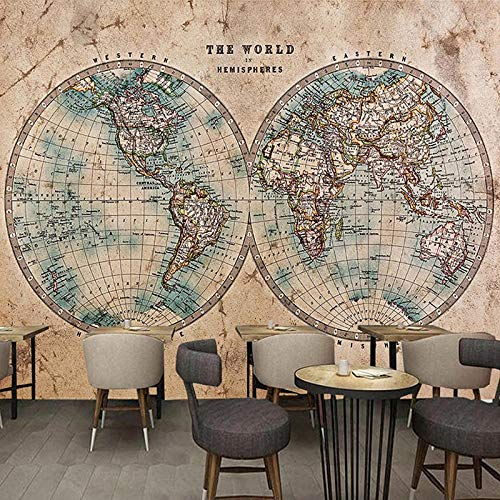 3D Wallpaper Weltkarte Hd Photography Tv Backdrop Wall Large Mural Living Room Backdrop Wall Paper.350X256Cm (Breite X Höhe)