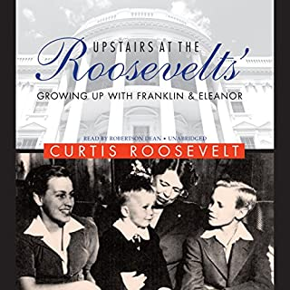 Upstairs at the Roosevelts' audiobook cover art