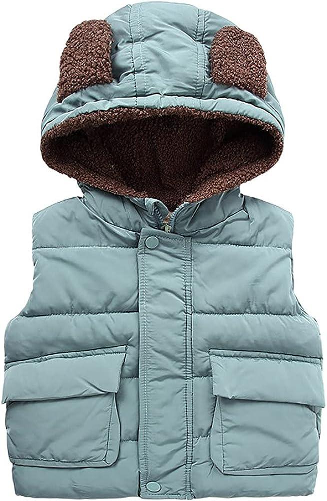 Regular dealer Kids Fleece Jacket Hooded Down Vest Fall Baby Winter Cl Boy Limited time cheap sale Girl