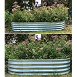 "Raised Garden Bed Metal Elevated Planter for Vegetable Flower Herb(7 ft.) 12 Product Size: 83""L x 35.5""W x 12""H Product Volume: 17.83 Cu. Ft. Suitable for planting vegetables、flowers and plants in your courtyard."
