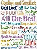 "Sloane Graphics - Tarjeta de despedida, con frase en inglés ""Goodbye and Good luck"", (298 x 222 mm)"