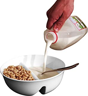 Just Crunch Anti-Soggy Cereal Bowl - Keeps Cereal Fresh & Crunchy | BPA Free | Microwave Safe | Ice Cream & Topping, Yogur...