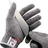 NoCry Cut Resistant Gloves - Ambidextrous, Food Grade, High Performance Level 5 Protection. Size Small, Complimentary...