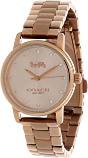 Coach Grand Women's Rose Gold Dial Stainless Steel Analog Watch - 14503003