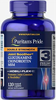 Puritan's Pride Glucosamine Chondroitin Joint Soother MSM- 120 Caplets