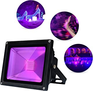 UV Black Lights, 10W UV Led Flood Light Ultraviolet Lamp, IP66 Waterproof Party Blacklight, for Fluorescent Neon Glow in The Dark, Halloween Christmas Decorations, DJ Stage Night Club, Body Paint