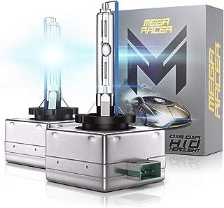 Mega Racer D3S HID Bulb - D3C/D3R/D3S Headlight Bulb 8000K Ice Blue, 12V 35W 8000 Lumens IP68 Waterproof, Pack of 2