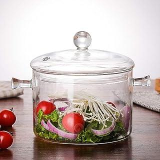 1300ml Glass Soup Pot Transparent Cooker Salad Instant Noodle Bowl Cooking Tool