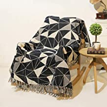 Bohemian Knitted Thread Towel Blanket with Tassels Living Room Bedroom Sofa Throw Blankets Plaid Vintage Tapestry 130x180cm