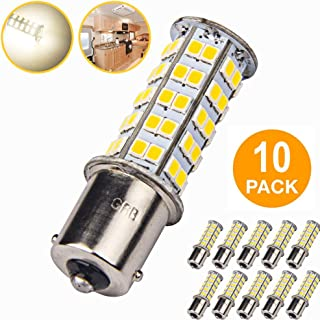 10x LED Light Bulb RV 1156 1141 1003 BA15S 68-SMD LED Super Bright Replacement Light Bulbs for RV Indoor Lights(10-Pack, Natural White (4000K-4500K Color Temputure))