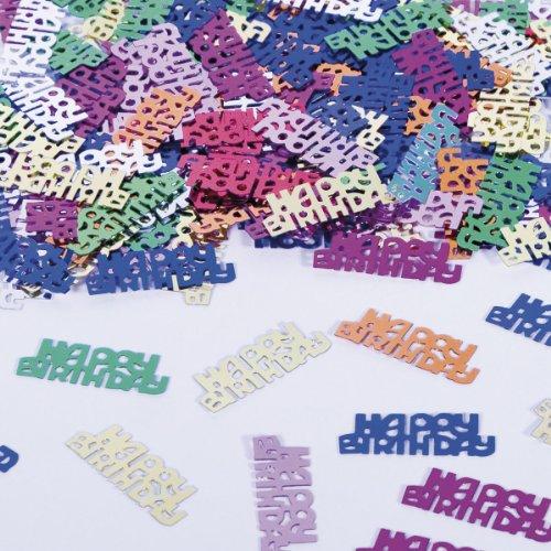 Folat Tischkonfetti Happy Birthday Text Deko Konfetti Geburtstag Party