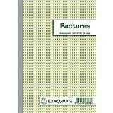 Manifold Factures avec Mention Tva 21x14,8cm 50 Feuillets Dupli Autocopiants