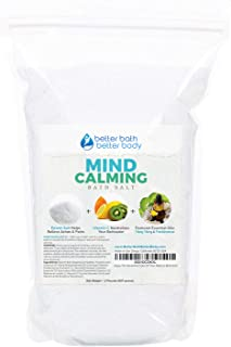 Mind Calming Bath Salt 32 Ounces Epsom Salt with Ylang Ylang and Frankincese Essential Oils Plus Vitamin C and All Natural Ingredients