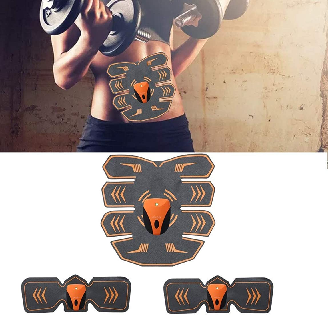 排出廃止するバンガロー電気腹部筋肉刺激装置、ボディウエストトレーナー、フィットネス痩身ベルト男性と女性の減量マッサージ