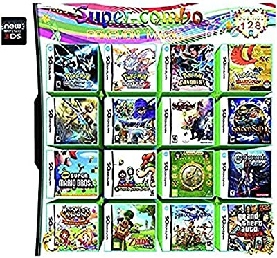 208 in 1 Large-scale Game - Compilations Video Game DS Cartridge Card - Compatible Model Nintendo Dual Screen, Nintendo 3DS - Video Game DS Cartridge Console Card - English