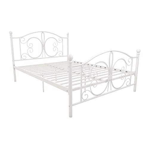 White Metal Beds