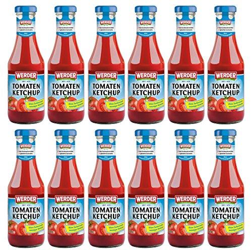 WERDER 12 x Tomaten KetchupOhne Zuckerzusatz 450 ml
