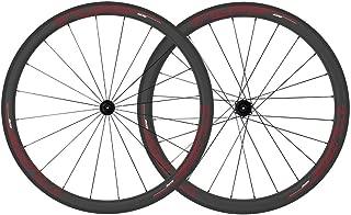 Tuff Carbon Wheelset Premium 45/55 Road Bike Wheels 700c Tubeless Clinchers