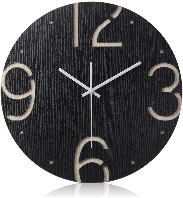 EU11 Reloj de Parojo Nontickg Cuarzo Reloj de Parojo Livg Habitación Puerta Decorativa Dormitorio Cocina Jardín Creativo Arte Moderno Parojo (Color   30cm)