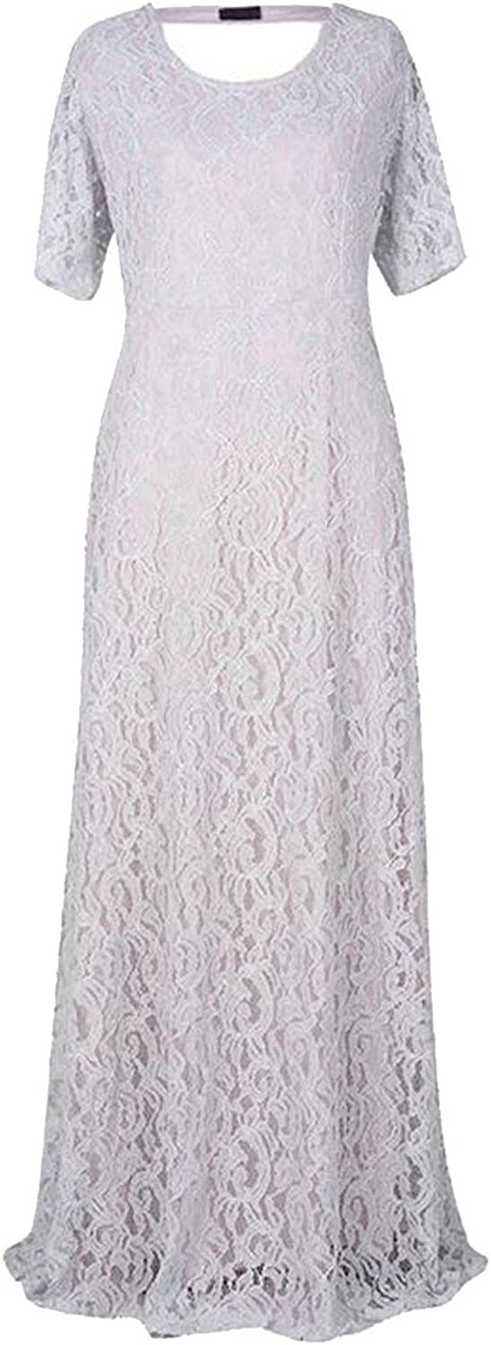 GAGA Women's Elegant Flare Long Sleeve Lace Bodycon Cocktail Party Dresses
