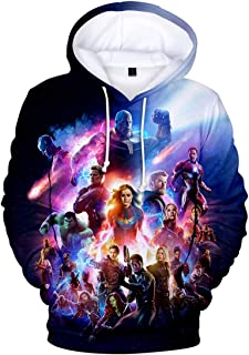 PANOZON Jongens-hoodies met Avengers Endgame-opdruk lange mouwen pullover met capuchon voor kinderen