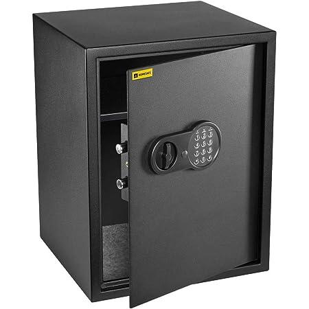 HomeSafe HV50E Coffre-Fort avec Serrure électronique, 50x35x35cm (HxWxD), Satin Noir