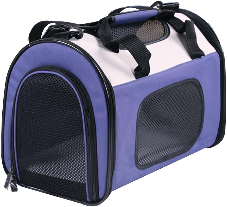 Backpacks Pet Outing Bag Cat Bag Dog Bag Folding Dog Dog Dog Folding Dog Teddy Out Portable Dog Bag Cat Cage 5 ~8 Kg Pet Auto Travel Bag Bag per quattro stagioni (colore: viola, dimensione:* 40 * 25 * 30cm)