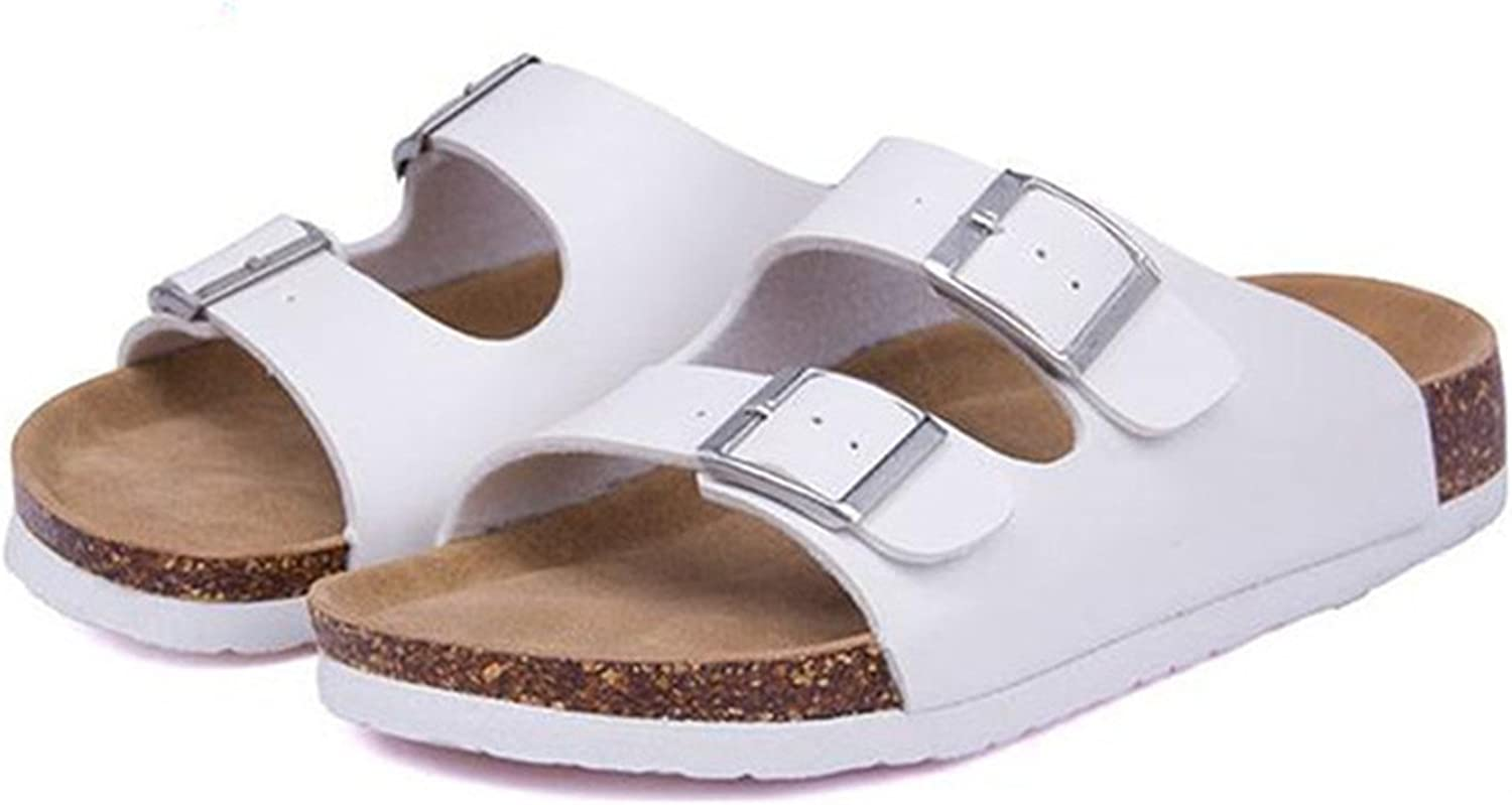 Willie Marlow New Summer Beach Cork Slippers Casual Double Buckle Clogs Slides Women Slip On Flip Flop shoes Plus Size