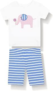 JoJo Maman Bebe Baby Girls' Elephant Short Skinny Fit PJ's